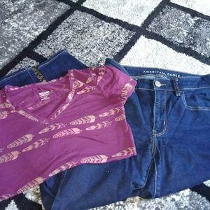 Denim - AE skinny leg jeans